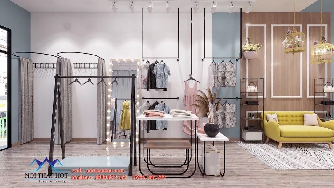 thiết kế shop thời trang nữ dova ấn tượng