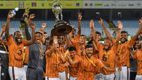 Gokulam Kerala celebrates the Durand Cup 2019 win