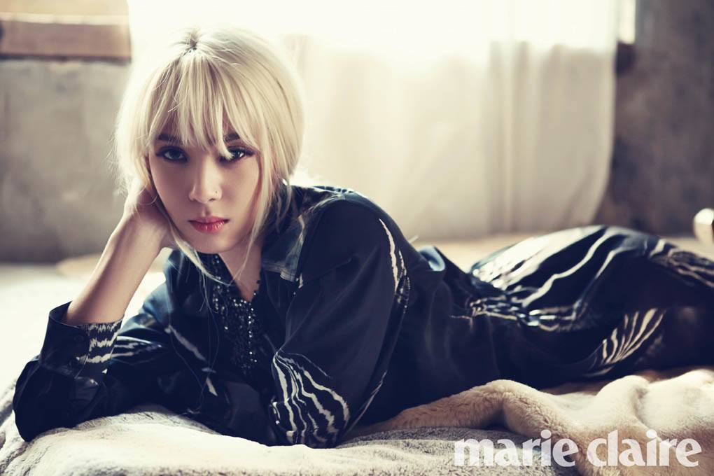 Yoon Mi Rae shows a sexy and graceful appearance in her latest pictorial for Marie Claire magazine