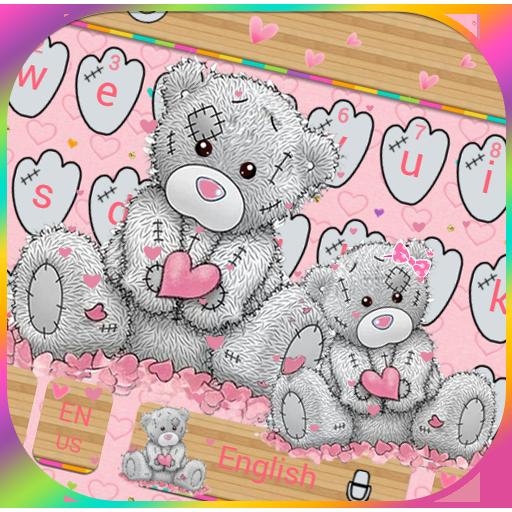 Teddy Bear Keyboard Theme Cute Bear in love