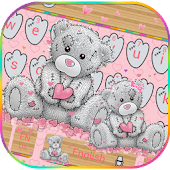 Teddy Bear Keyboard Theme Cute Bear in love