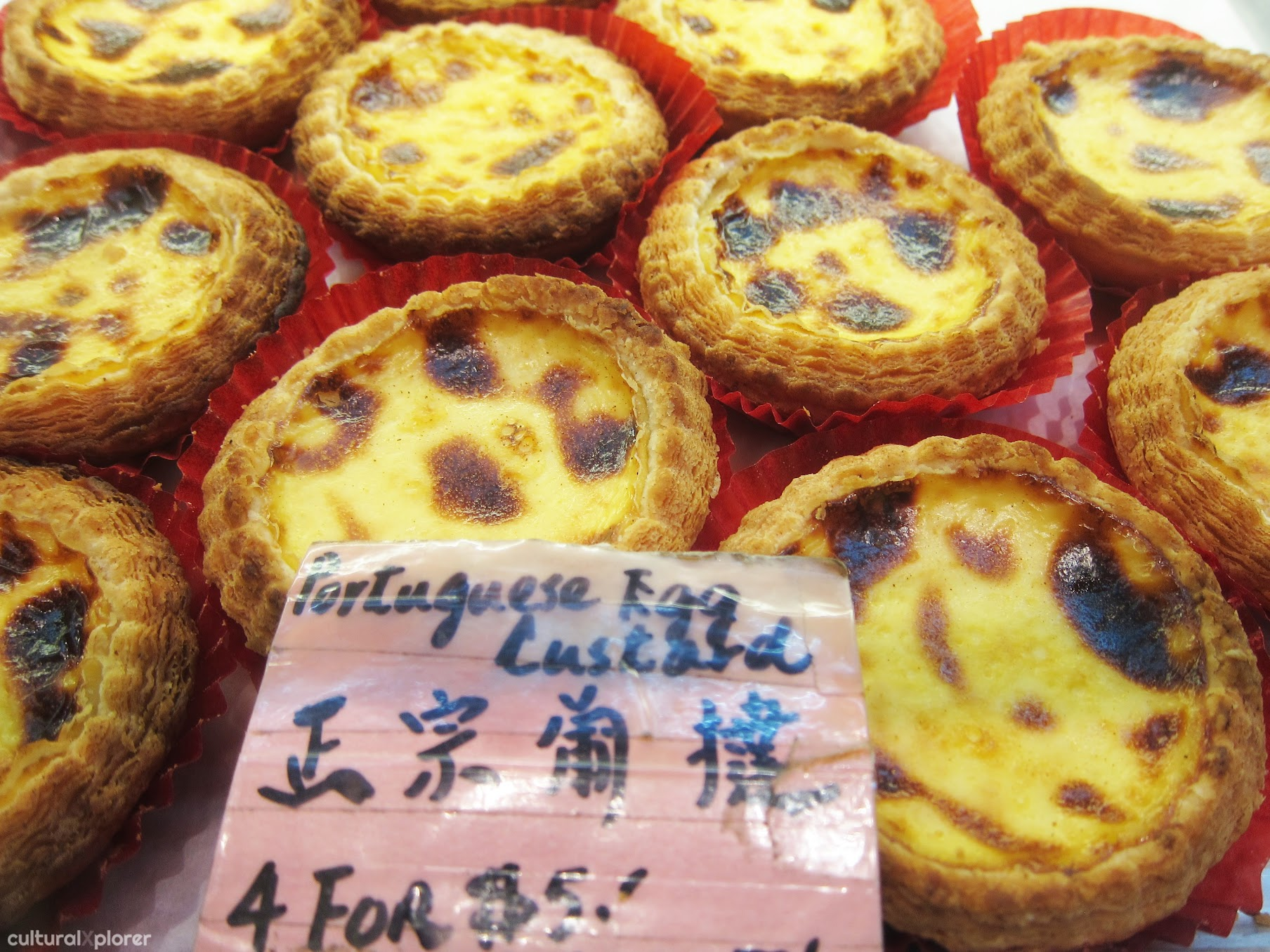 Portugese Egg Custard at New Flushing Bakery