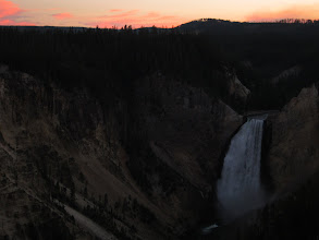 Photo: Sunset mode over lower falls