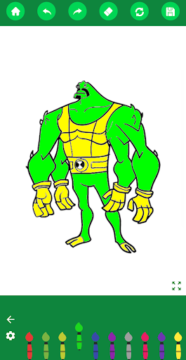 Coloring Ben Hero Cartoon 1.1.1 screenshots 2