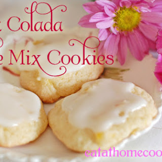 Pina Colada Cake Mix Cookies.