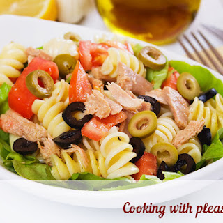 Salad With Pasta And Red Fish
