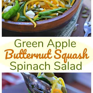 Spiralized Green Apple Butternut Squash Salad.