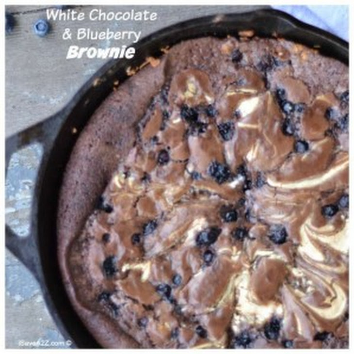 White Chocolate and Blueberry Brownie Recipe