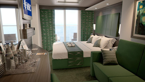 MSC-Meraviglia-Balcony-Stateroom.jpg - Here's what a balcony stateroom will look like on MSC Meraviglia when she launches in June 2017.