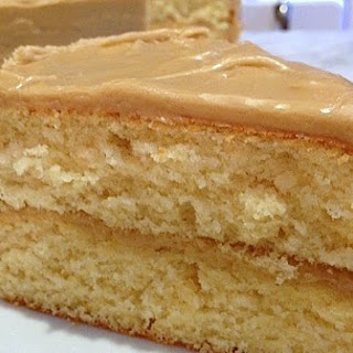 """Just Cake"" and Easy Caramel Frosting."