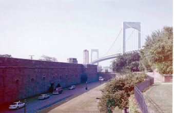 Photo: Fort Schuyler and the bridge.