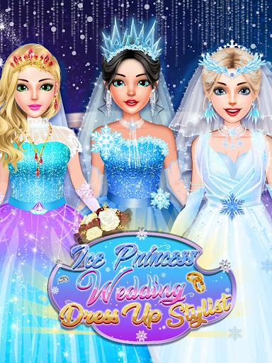 Ice Princess Wedding Dress Up Stylist screenshot 13