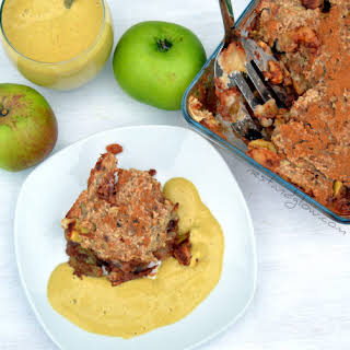 Healthy Oat Apple Crumble.