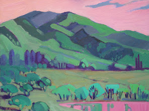 Photo: Diablo Spring, oil on canvas by Nancy Roberts, copyright 2014. Private collection.