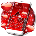 Stylish Red Love Keyboard icon