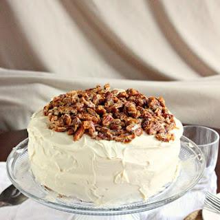 Pecan Praline Cake.