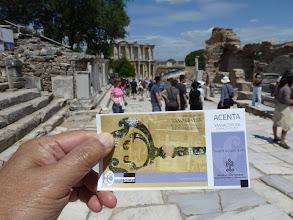 Photo: ticket to Ephesus museum