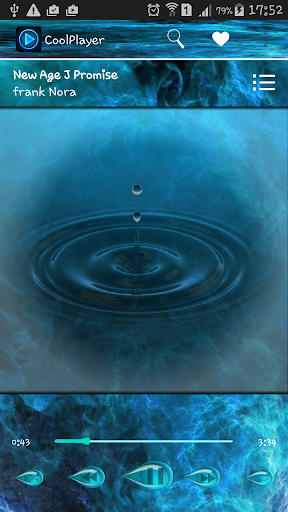 CoolPlayer HD Water theme