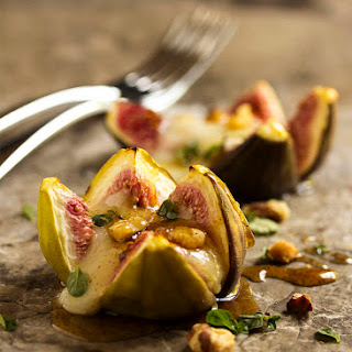 Fig Appetizer With Brie and Spiced Honey