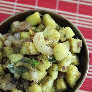 Raw Banana Roast (Ghee Pepper roasted Plantain)