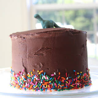 The 7 Year Cake…Classic Yellow Cake with Chocolate Fudge Frosting.