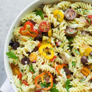 Vegan Antipasto Pasta Salad.