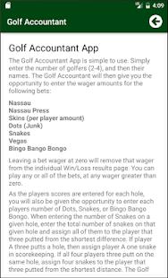 Golf Accountant - náhled