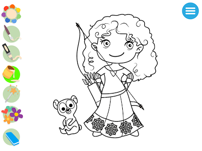 Kids Princess Coloring Book Screenshot Thumbnail