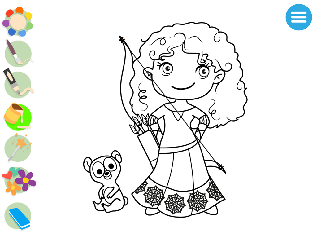 Coloring book princess - Kids Princess Coloring Book Screenshot
