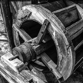 Wheel of Life by John Herlo - Products & Objects Industrial Objects ( b&w, black and white, people, photography, portrait, city )