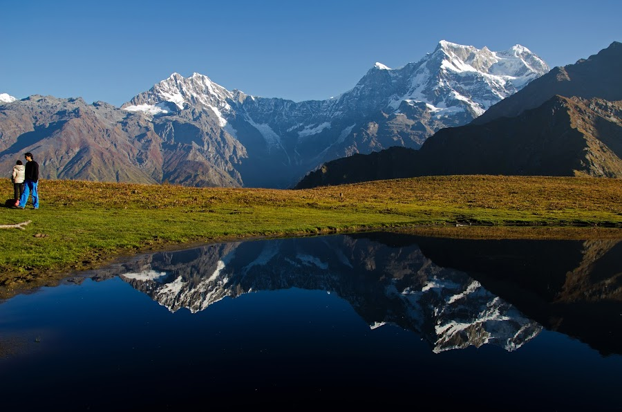 The perfect reflection, Madmaheswar by Abhishek Ghosh - Landscapes Mountains & Hills ( reflection, mountain, nature, himalaya, travel, places, trek )