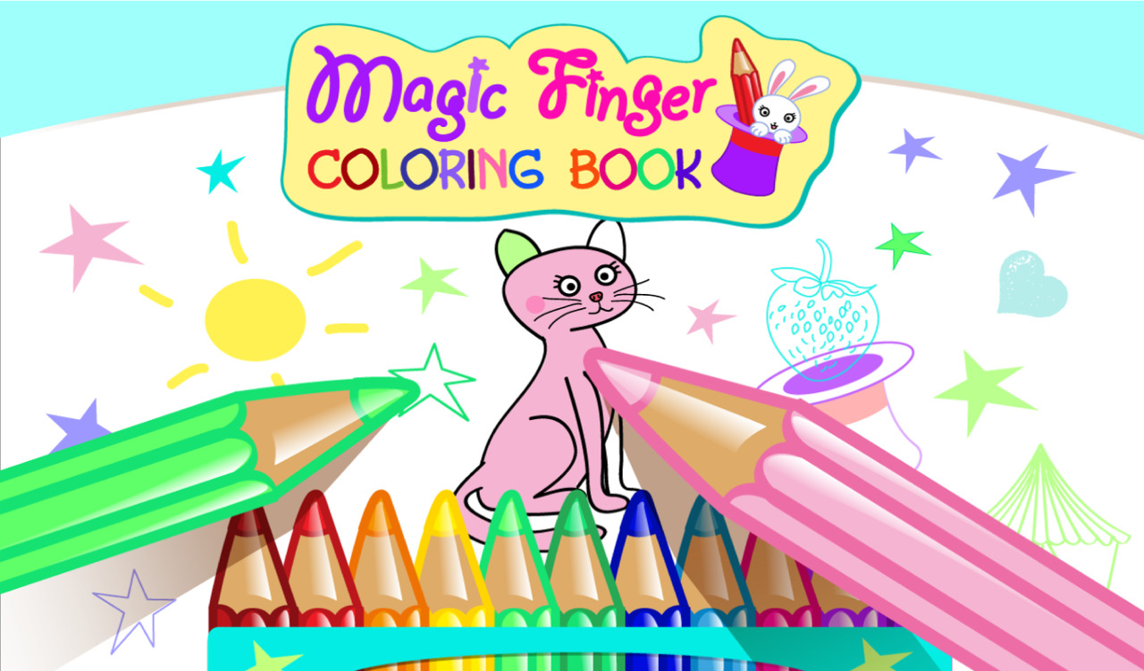 Magic Finger Coloring Book- screenshot