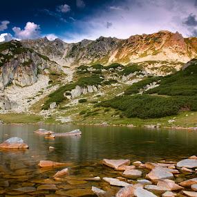Retezat by Eduard Moise - Landscapes Mountains & Hills ( clouds, mountain, lake, sunrise, rocks )