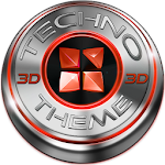 Next Launcher Theme Techno Red Icon
