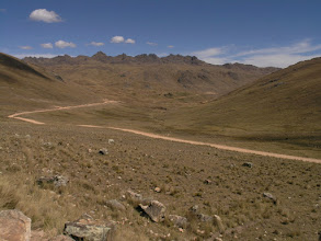 Photo: Going over a high pass between Pisac and Paucartambo on my way to the cloud forest.