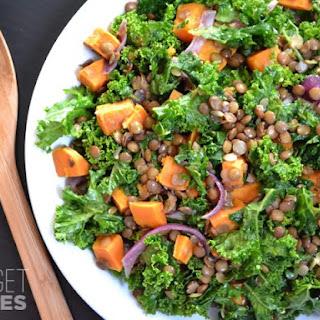Wilted Kale and Lentil Salad.