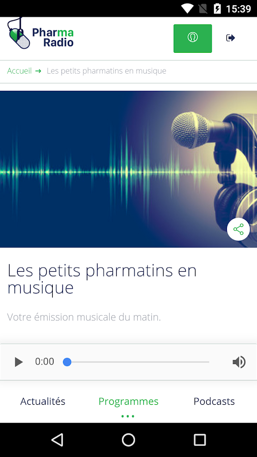 Pharmaradio – Capture d'écran
