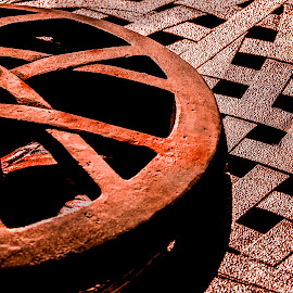 Rusty wheel by Paul Drajem - Artistic Objects Industrial Objects ( we'll, round wheel, rusty, iron, abstract,  )