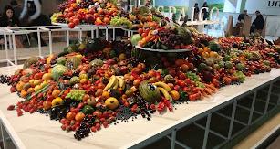 Varios kilos de fruta que hubo en el evento.