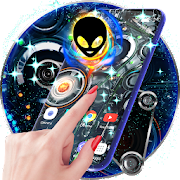 Alien Tech Live Wallpaper & Animated Keyboard