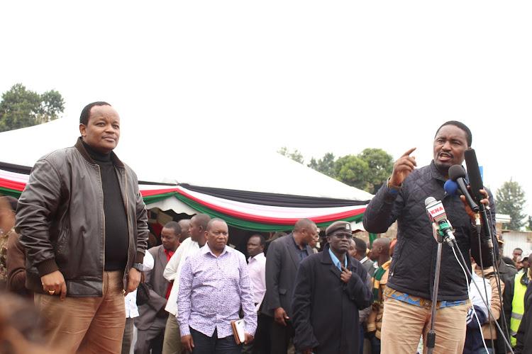 "Image result for Ngunjiri wambugu with Mwangi Kiunjuri"""