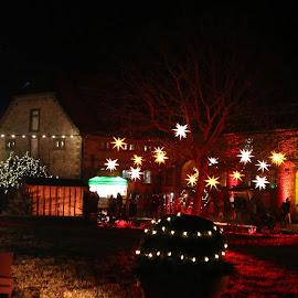 Lights at the christmas market by Carola Mellentin - Public Holidays Christmas (  )