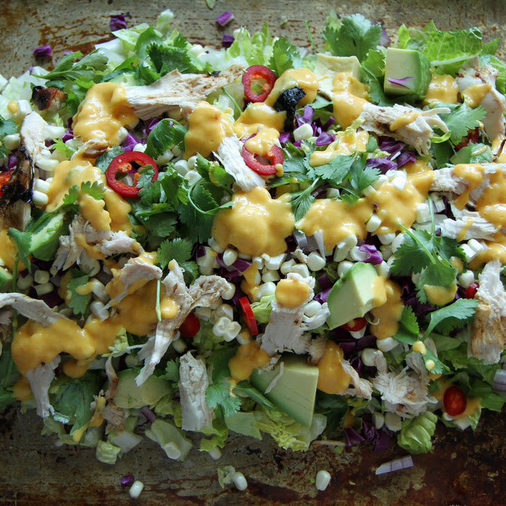 Chicken Chop Chop Salad with Creamy Mango Vinaigrette