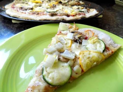 "Fall Harvest Pizza Recipe ""I've never made a pizza crust with (pumpkin) beer..."