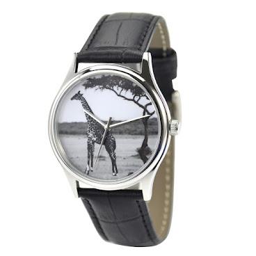 長頸鹿(黑白)手錶