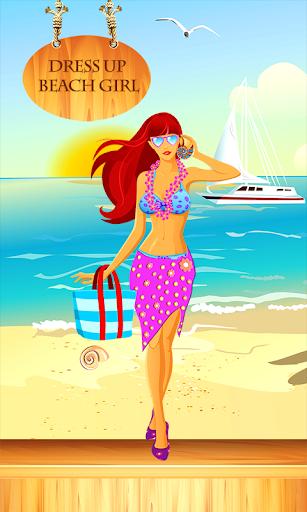 打扮沙滩女孩