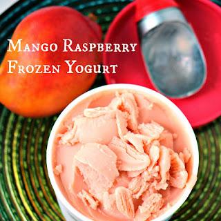 Mango Raspberry Frozen Yogurt.