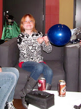 Photo: Taylor blowing up baloons