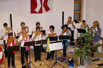 Photo: Einspielen des Panflöten Chors