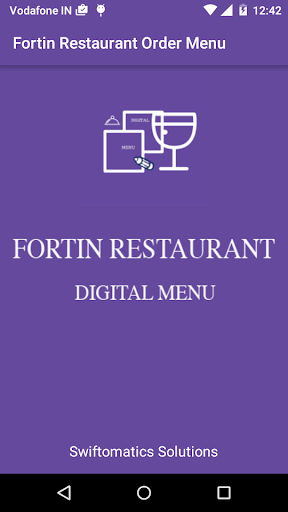 Fortin Restaurant Digital Menu